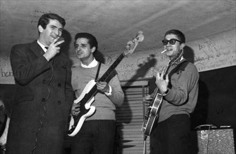 Eddy Mitchell, Aldo Martinez et Jacques Dutronc, 1965