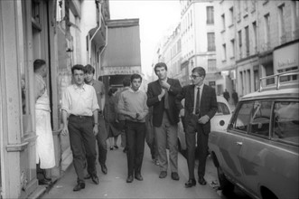 Aldo Martinez, Eddy Mitchell et Jacques Dutronc, 1965