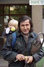 Ilie Nastase et son fils, Roland-Garros 1989
