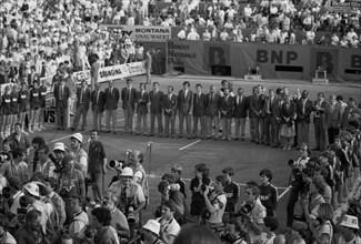 Cérémonie de remise des trophées, tournoi de Roland-Garros 1984