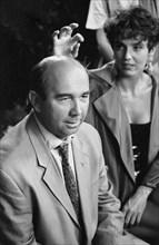 Gérard Jugnot et Philippine Leroy-Beaulieu, 1991