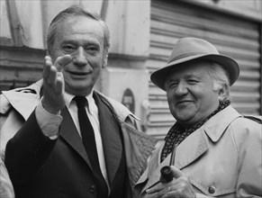 Yves Montand et Jean Richard, 1985