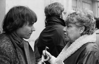 Yves Simon et Simone Signoret, 1985