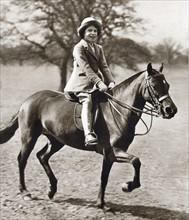 La princesse Elisabeth à cheval