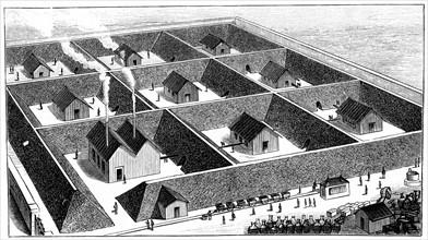 Nitroglycerin processing plant, explosives factory, Val Bormida, near Cengio, North West Italy, 1888