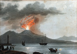 Vesuvius during one of its early 19th century eruptions