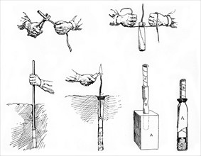Method of preparing and setting a Dynamite charge
