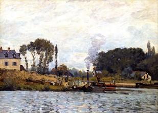 Sisley, Bateaux à l'écluse de Bougival