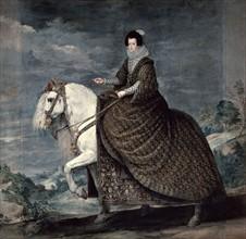 Velásquez, Portrait équestre d'Elisabeth de France