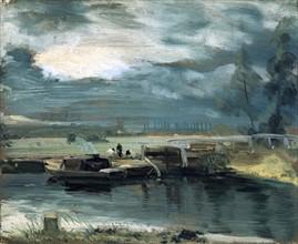 Constable, Péniches sur le fleuve Stour