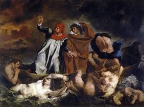 Delacroix, La Barque de Dante