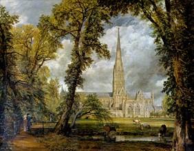Constable, La cathédrale de Salisbury vue des prés