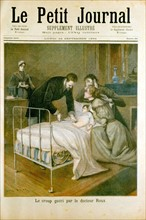 Emile Roux treating a sick child by administering an abdominal injection