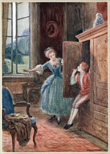 Scene from Mozart's opera 'The Marriage of Figaro'