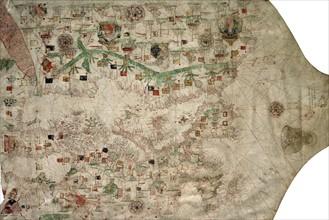 Carte-portulan de la Méditérranée