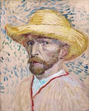 Van Gogh, Autoportrait au chapeau de paille