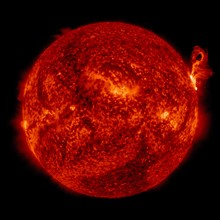 Eruption of solar material off the surface of the sun