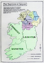 Map of the partition of Ireland