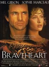 Braveheart' starring Mel Gibson a 1995 epic historical drama war film.