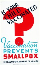 Poster issued for vaccination against smallpox