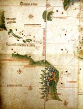 Carte portugaise, dite de Cantino, 16ème siècle
