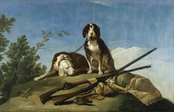 Goya, Chiens en laisse