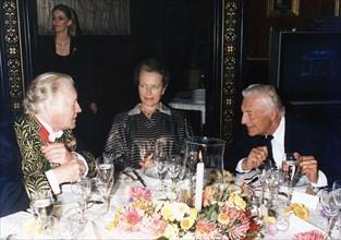 Gianni Agnelli , en compagnie de Maurice Druon