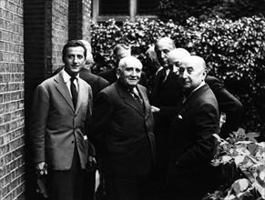 Benno Graziani avec Paul Claudel et André François Poncet