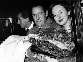 Benno Graziani, Pierre Galante et Olivia de Havilland