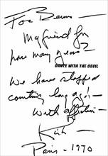 Livre dédicacé par Kirk Douglas