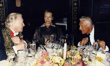 Maurice Druon et Gianni Agnelli