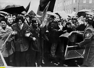 Manifestation au sujet du procès contre Fritz Teufel, Berlin, 1967