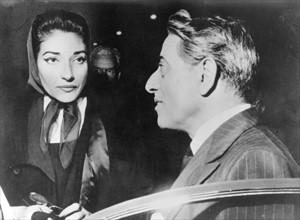 Maria Callas et Aristote Onassis à Milan en 1959