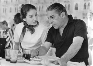 Maria Callas et Aristote Onassis en 1957