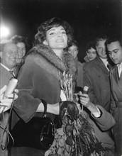 Maria Callas à son arrivée à Berlin en 1959