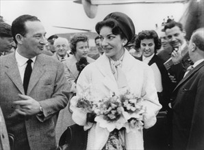 Maria Callas à son arrivée à Francfort en mai 1959