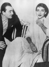 Luchino Visconti et Maria Callas en 1954