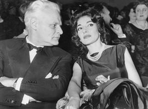 Maria Callas et Antonio Ghiringhelli en février 1960