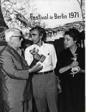 Jean Gabin, Pierre Granier-Deferre et Simone Signoret