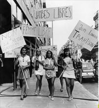 Manifestation pour le port de la mini-jupe