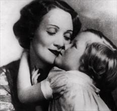 Marlène Dietrich avec sa fille