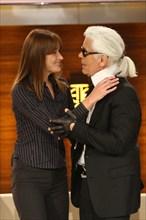 Karl Lagerfeld et Carla Bruni, 2008