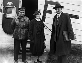 Maurice Rossi, Léon Blum et sa femme, 1936