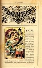 "Caricature sur le journal ""Le Figaro"", in : ""Le Trombinoscope"""