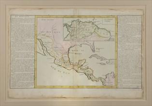 Carte du Mexique ayant appartenu à Bonaparte