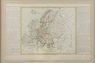 Carte de l'Europe ayant appartenu à Bonaparte