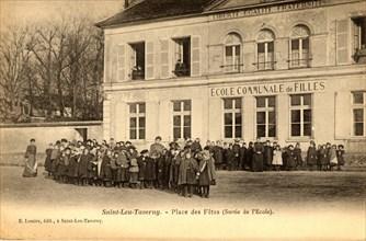 Les élèves de l'école de Saint-Leu