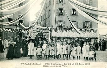 Tarare, fête gymnique des 29 et 30 juin 1912