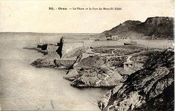 Oran (Algérie), le Fort et le phare de Mers-El-Kébir