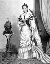 """Portrait de la reine de Madagascar, Ranavalo II in """"Le Journal illustré"""" du 24-3-1895"""